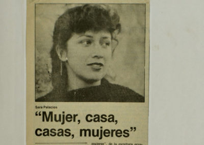 archivo de Mujeres casa de Sara Palacios