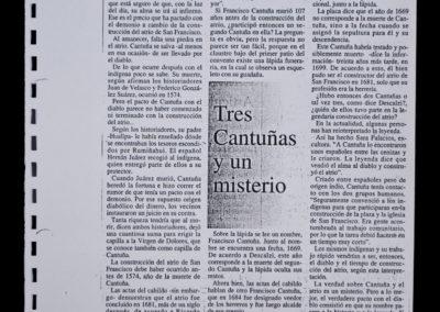 Artículo de la obra Cantuña