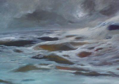 Corriente, Serie paisaje 3 Acrílico 1,50x 0,80 cm. 2011